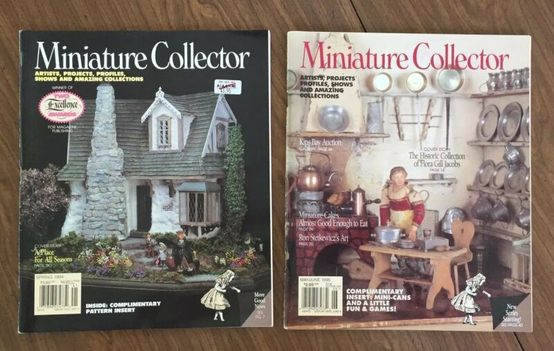 2 VTG Dollhouse MINIATURE COLLECTOR Magazines, Spring 1994, May/June