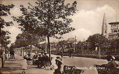 Kingstown, County Dublin. The Promenade # 78833 by Valentine's.