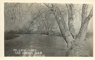 RPPC Cooke's New Drug Store Photo Postcard Ft. Lyon Canal Las Animas CO (Animas Store)