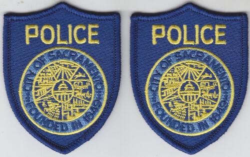 Sacramento CA California Police 2 MINI/hat patches/1pair capital city