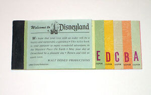 VINTAGE DISNEYLAND 1974 ADULT A - E TICKET COUPON BOOK DISNEY ALL ATTACHED!!