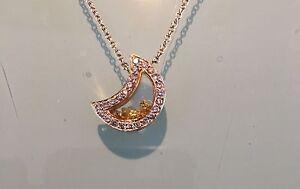 Pendentif or, diamant et saphir