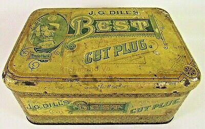 Vintage J G Dill's Best Cut Plug Tin Internal Rev Stamp Richmond Va for sale  Casa Grande