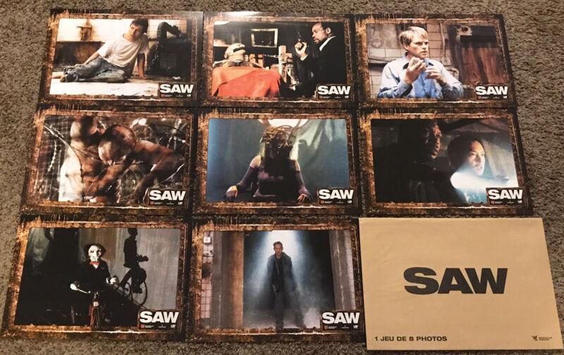 Original 2005 Set Of 8 SAW French Movie Lobby Cards