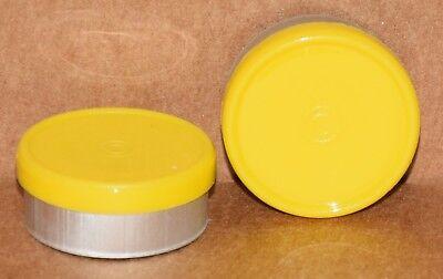 20mm Aluminum Plain Flip Top Serum Vial Seals Yellow - Qty. 50