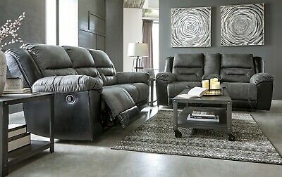 Ashley Furniture Earhart Reclining Sofa and Loveseat Living Room Set