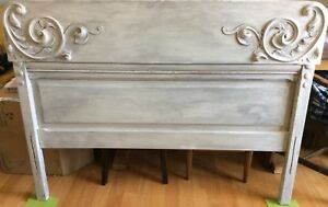 Solid wood antique double bed