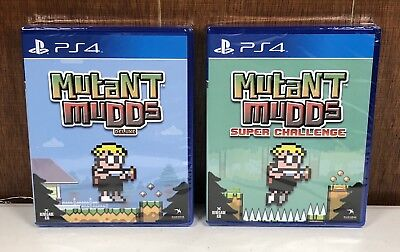Mutant Mudds Deluxe & Super Challenge BUNDLE PS4 Limited Run Games PlayStation 4