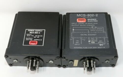 Warner CBC-802-2 Clutch Brake Power Supply Input 120VAC 50-60Hz Output 90VDC