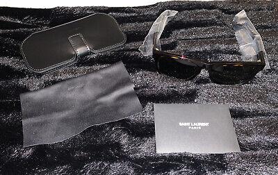 Brand New Saint Laurent YSL tortoiseshell square Sunglasses Care -