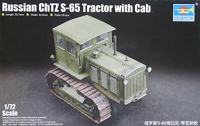 TRUMPETER® 07111 Russian ChTZ S-65 Tractor w/Cab in 1:72