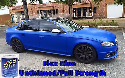 1 Gallon Flex Blue Performix Plasti Dip Unthinned Full Strength Rubber Coating