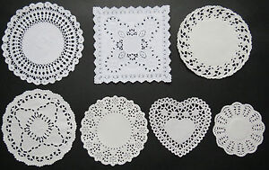 VARIETY SIZE PACK ASSORTED WHITE PAPER LACE DOILIES FOR MAGNOLIA TILDA CARDS