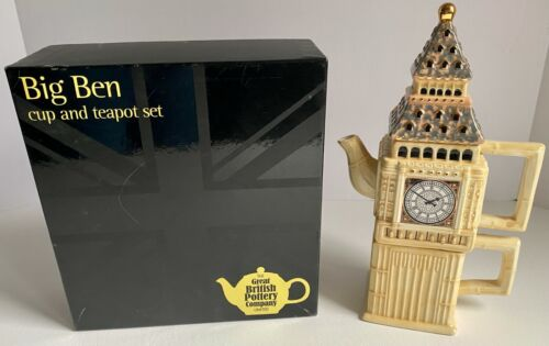 The Great British Pottery Company Big Ben Teapot And Cup Set