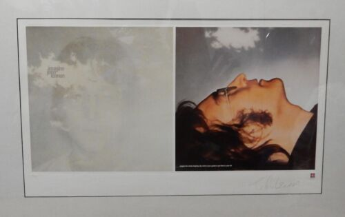 "JOHN LENNON - PLATE SIGNED LIMITED EDITION LITHOGRAPH ""IMAGINE"" W Certificate"