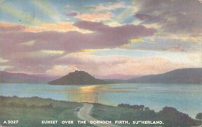 Sunset over the dornoch firth JB white