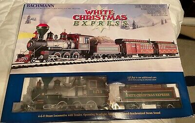Bachmann White Christmas Express R2R Train set - Large G Scale - Complete - LN