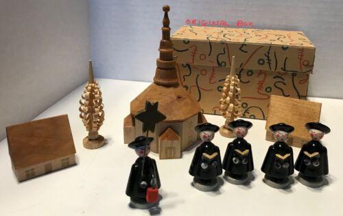 Bavarian Village Wooden Christmas Scene