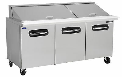Nor-Lake AdvantEDGE NLSMP72-30-001, 72-inch 3 Door Mega Top Sandwich Food Refrig