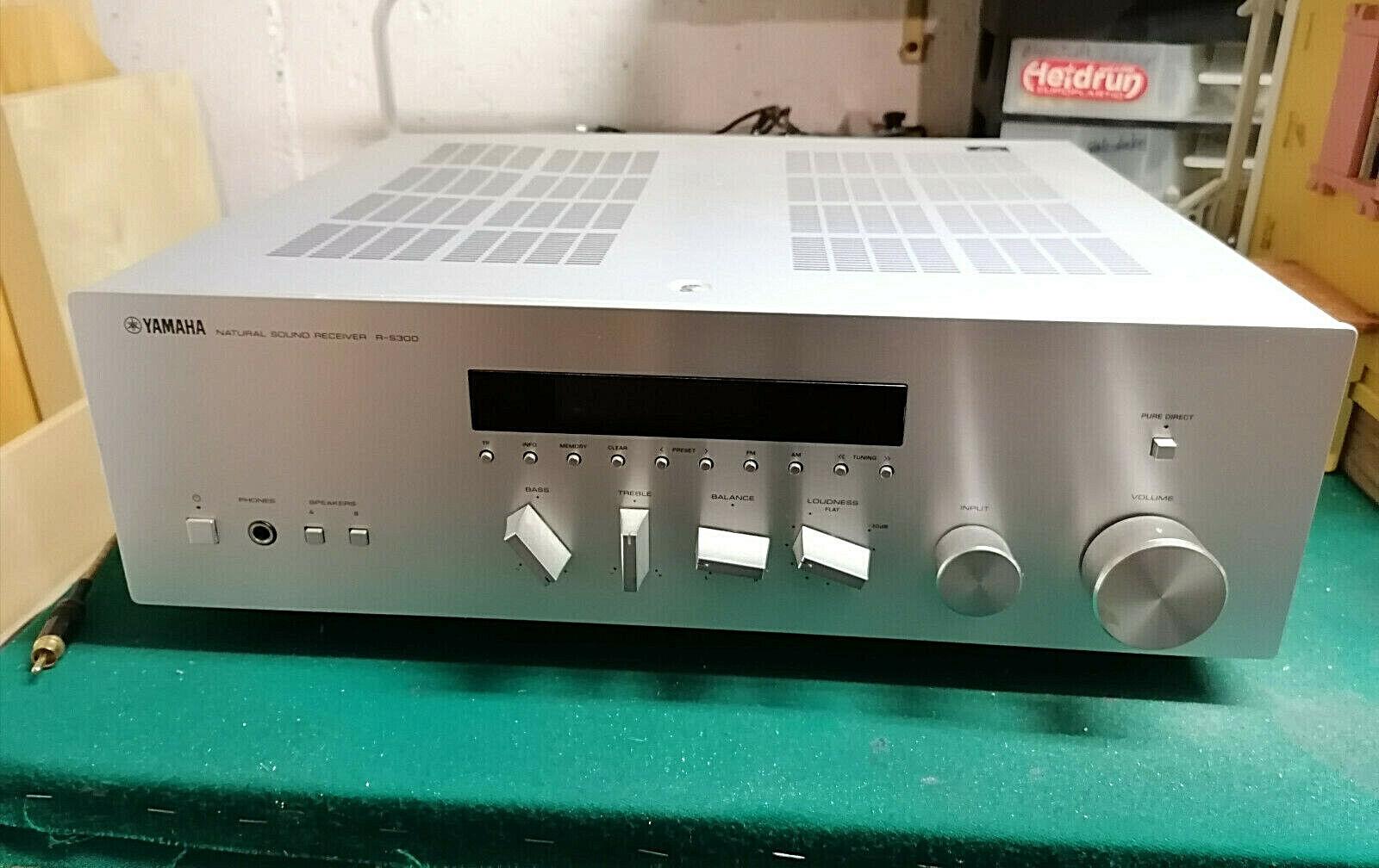Yamaha Natural Sound Receiver R-S300 silber mit Bedienungsanleitung