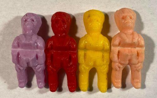 Vintage Frankenstein Monster Set of 4 Vending Gumball Machine Toys