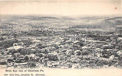 A53  Clearfield Pennsylvania Pa Postcard C1910 Birdseye Kurtz Brothers Homes