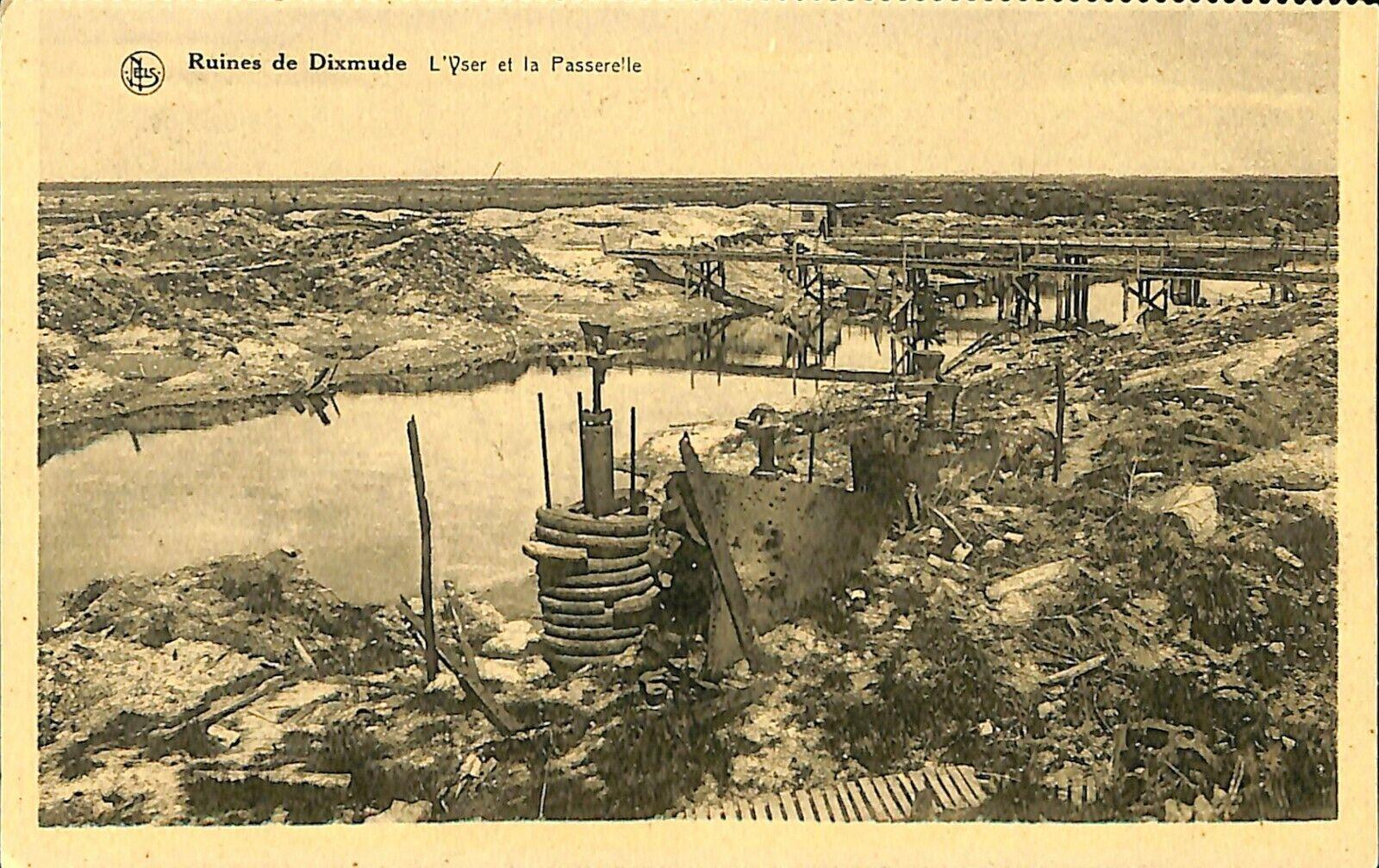 CPA - Belgique - Diksmuide - Dixmude - L'Yser et la Passerelle