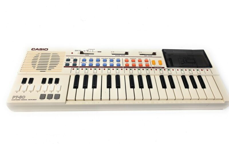 Casio Vintage PT-80 Electronic Keyboard Piano No ROM Packs Tested