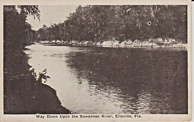 1920's Way Down Upon the Suwannee River at Ellaville, FL Florida PC