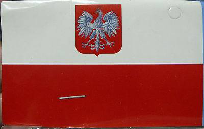 OLD POLAND COUNTRY EAGLE FLAG 3' X 5'  ANCESTRAL POLISH POLYESTER BANNER NEW