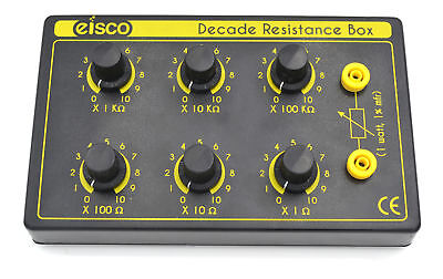 Eisco Labs 6 Decade Resistance Box Variable From 0-1111110 Ohms