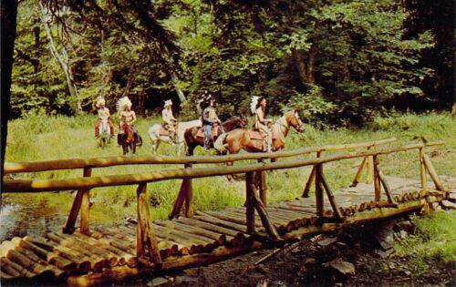 NY Livingston Manor Horseback riding ONTEORA BOY SCOUTS OF AMERICA postcard BS3