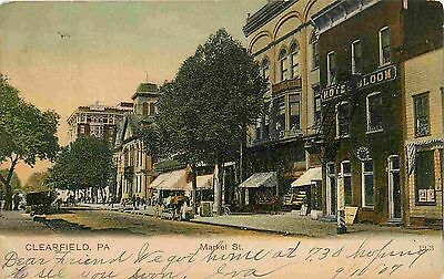 Clearfield Pa Market Street View 1907 Pc