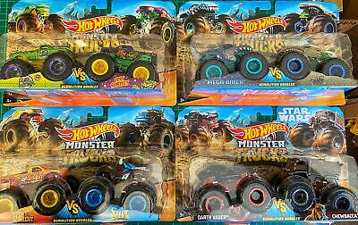 Hot Wheels Monster Trucks 1:64 Demolition Doubles 2-Pack - Choose Your Favourite