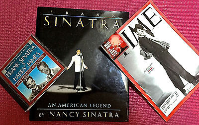 "Sinatra ""An American Legend"" Book w/ CD (1995),+ CD w/ Harry James +TIME (1998)"