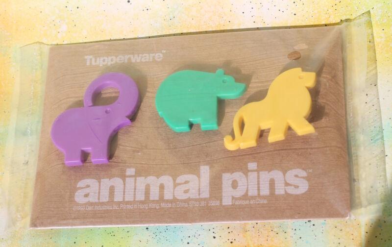 Vintage TUPPERWARE Animal Pins, 1993, New