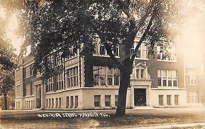 Monmouth Illinois High School Sb Mcquown Photo 1912 Real Photo Rppc