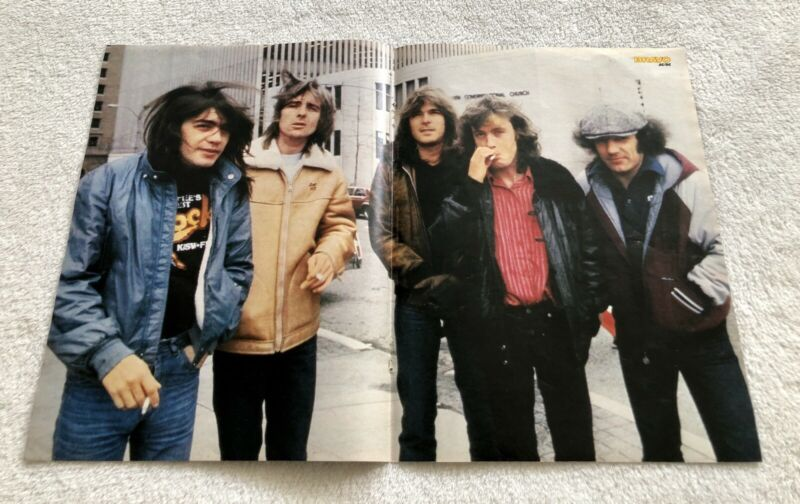 AC/DC 1982 Angus Young Clippings Posters German magazine Bravo Vintage Rare
