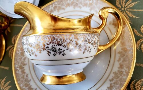 Royal Bavarian Hutschenreuther Selb LHS Bavaria Gold Cream China - 6 Pieces