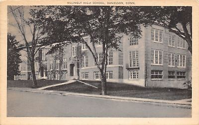 Danielson Connecticut Killingly High School 1944 Sepia Litho Postcard