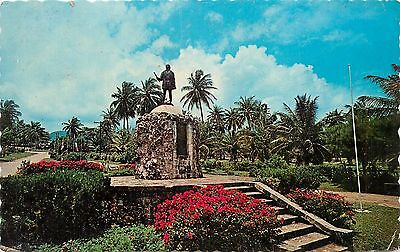 Postcard Christopher Columbus Discoverer of Jamaica Historic Statue