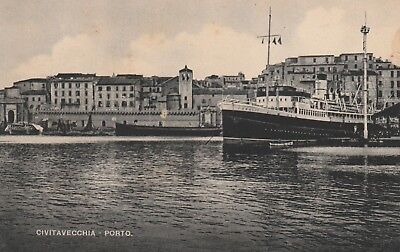 "*Postcard-""Ship...Civitavecchia Porto"""