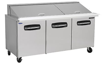 Nor-Lake AdvantEDGE NLSMP72-30-005, 72-inch 3 Door Mega Top Sandwich Food Refrig