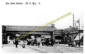 Bow Road Railway Station Photo. Stepney - Stratford. Great Eastern Railway