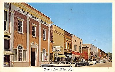 Fulton Kentucky Lake Street City Bank National Stores Dotty Shops 1950S Cars Pc
