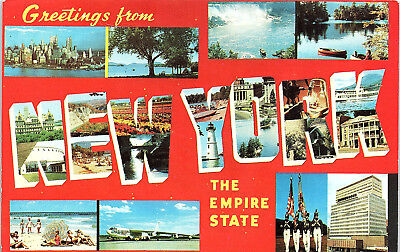 New York, Large Letter Postcard, State Postcard, Empire State - Postcard (TT)