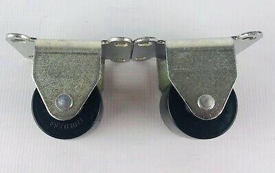 Faultless Non-swivel Caster Wheels Heavy Duty Low Profile 2  2 Pack