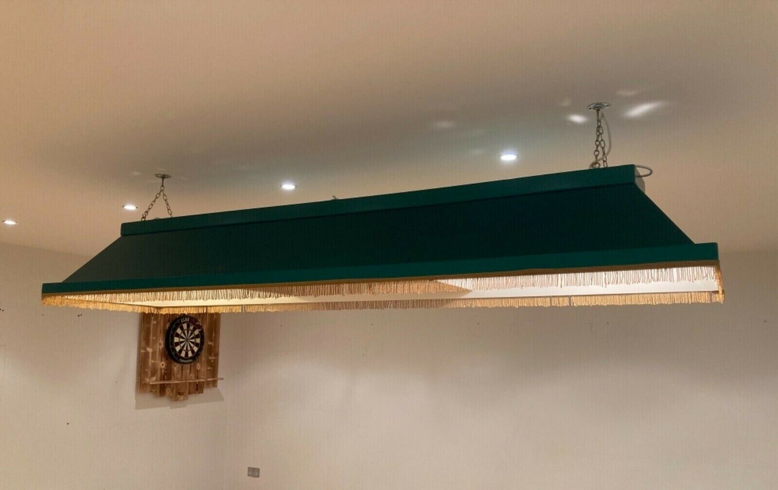 snooker table lights - very good condition. Available now. Comes with fixings
