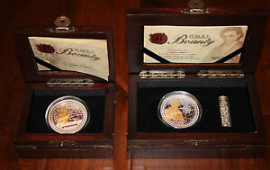 H.M.A.V Bounty AND Fletcher Christian 1oz Gold Gilded .999 Silver Coin Set!!!