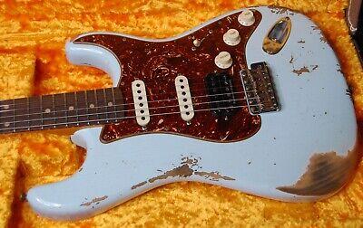 Fender 1962 Stratocaster HSS Heavy Relic Modern Specs Sonic Blue Custom Shop